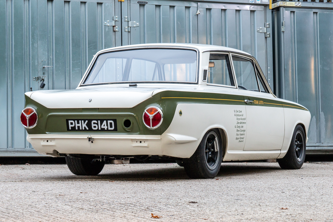 1966 Ford Cortina Lotus. Ex-works rear 3/4