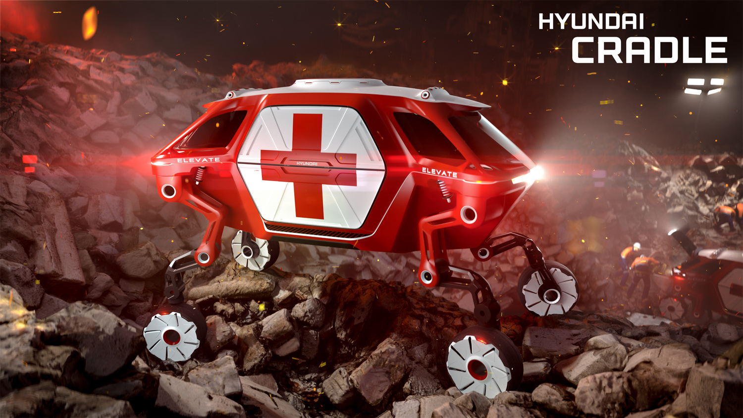 Hyundai Elevate concept ambulance