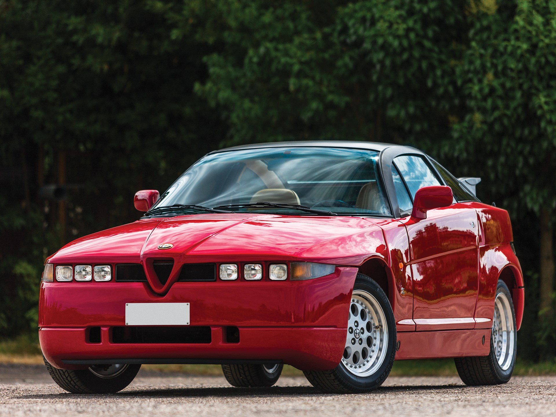 1990 Alfa Romeo SZ red 3/4 front low