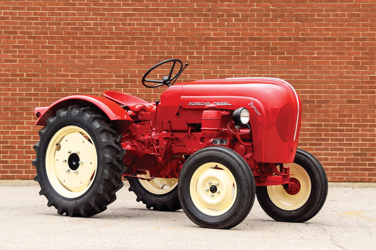 1960 Porsche-Diesel Junior Tractor 3/4 front red