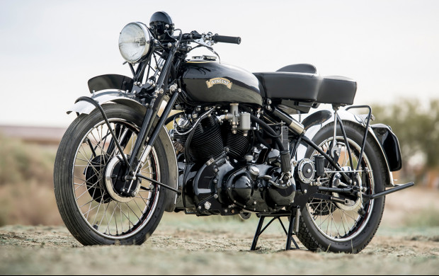 1951 Vincent Series C Black Shadow front 3/4
