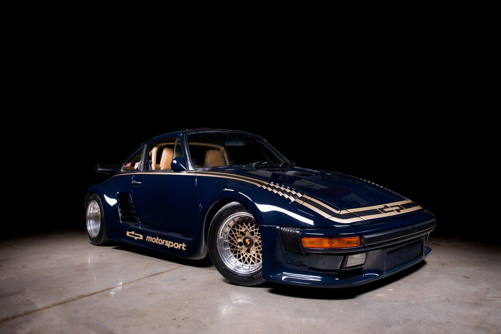 1985 Porsche 930 Turbo 935 DP Motorsports front 3/4