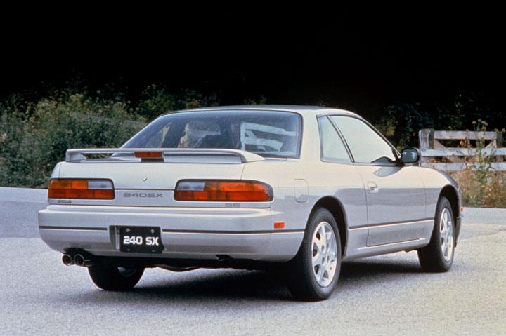 1991 Nissan 240SX 3/4 rear silver