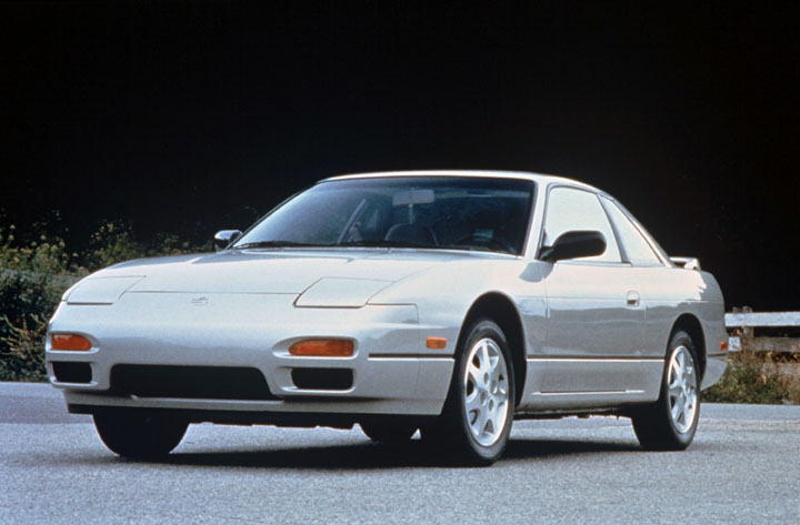 1991 Nissan 240SX 3/4 front silver