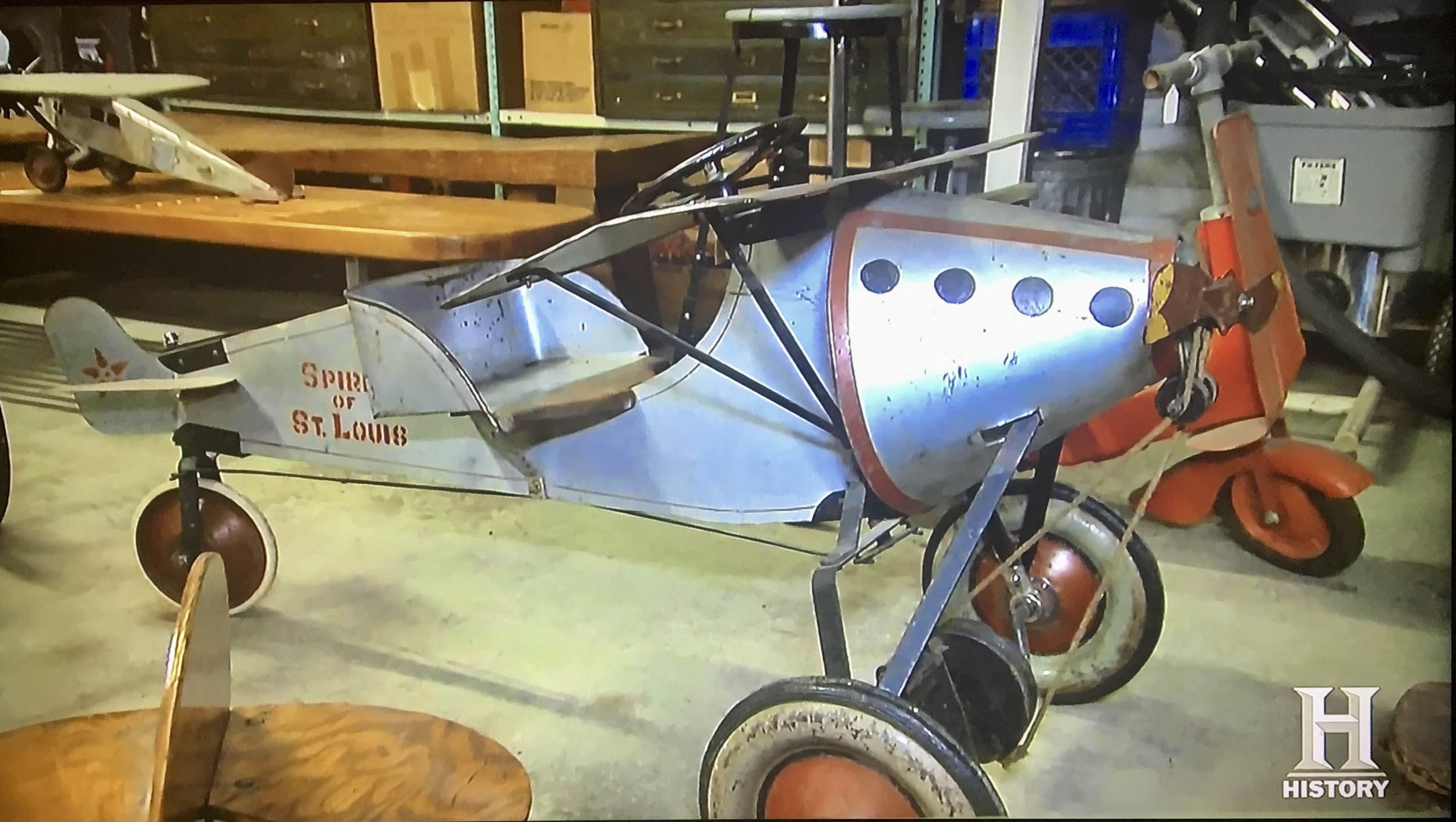 Mike Wolfe snagged this Spirit of St. Louis pedal plane for  alt=