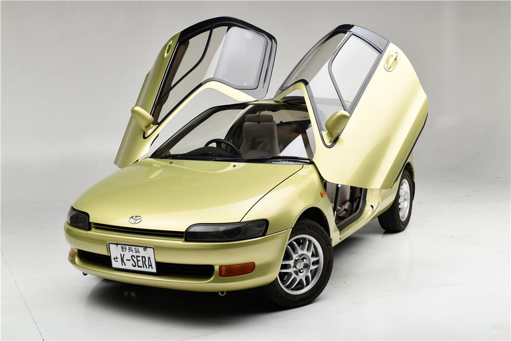1990 Toyota Sera 3/4 front green jdm gullwing