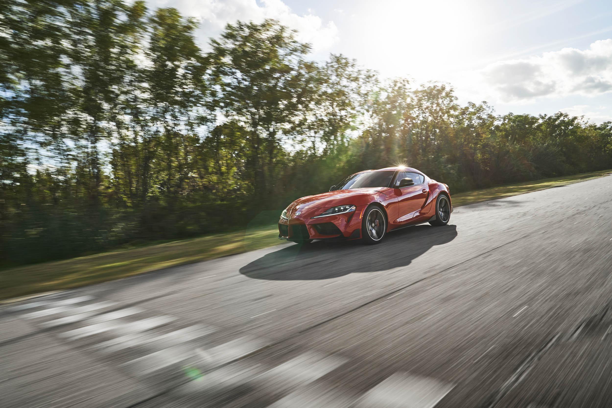 2020 Toyota Supra lens flare