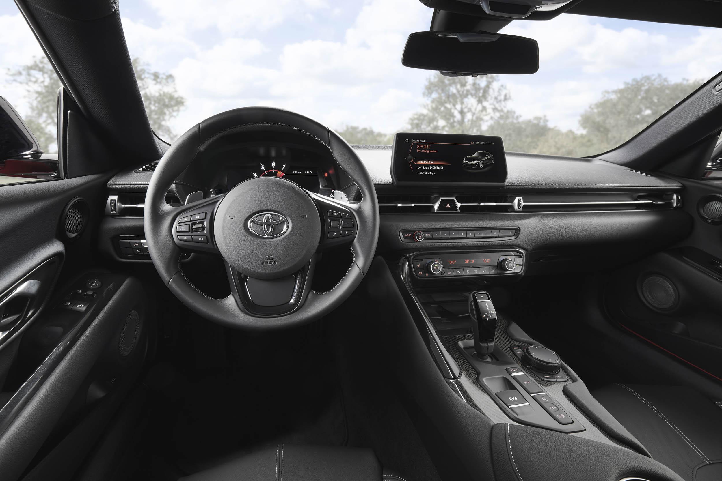 2020 Toyota Supra cockpit
