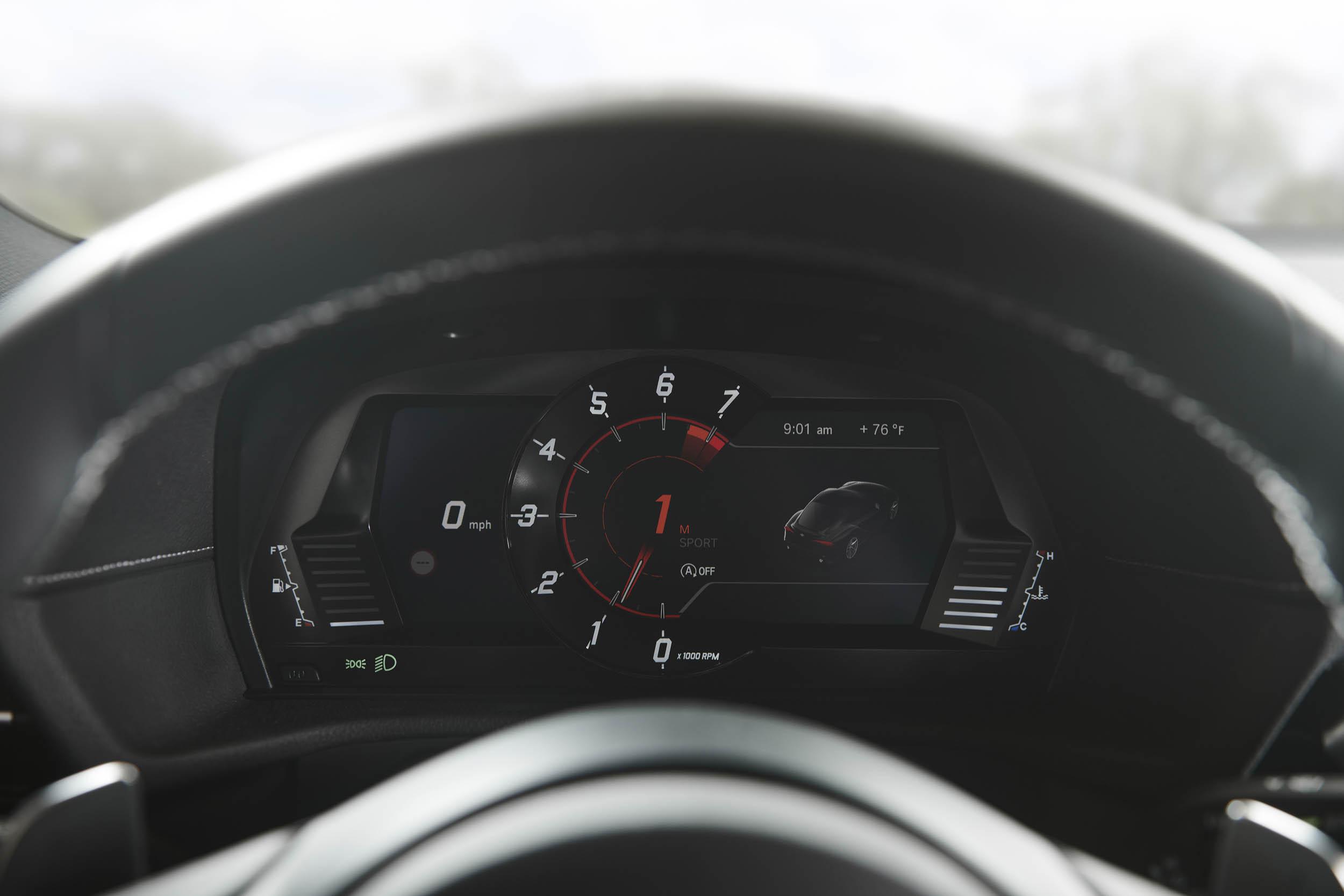 2020 Toyota Supra guages