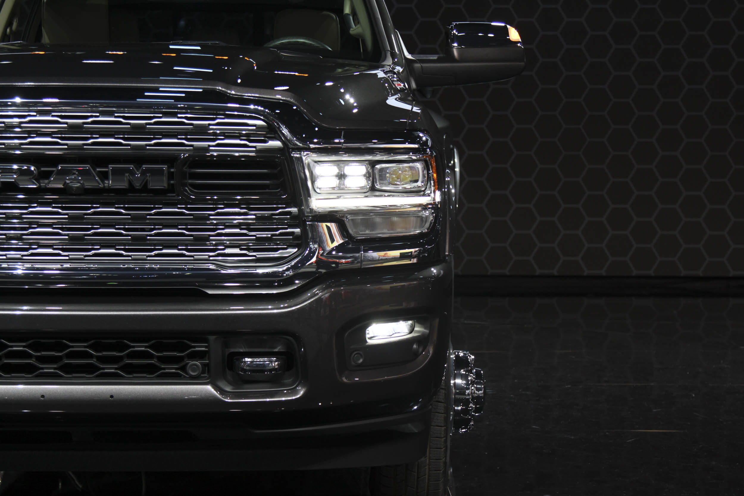 The headlights have decreased in size, but not in power according to Ram.
