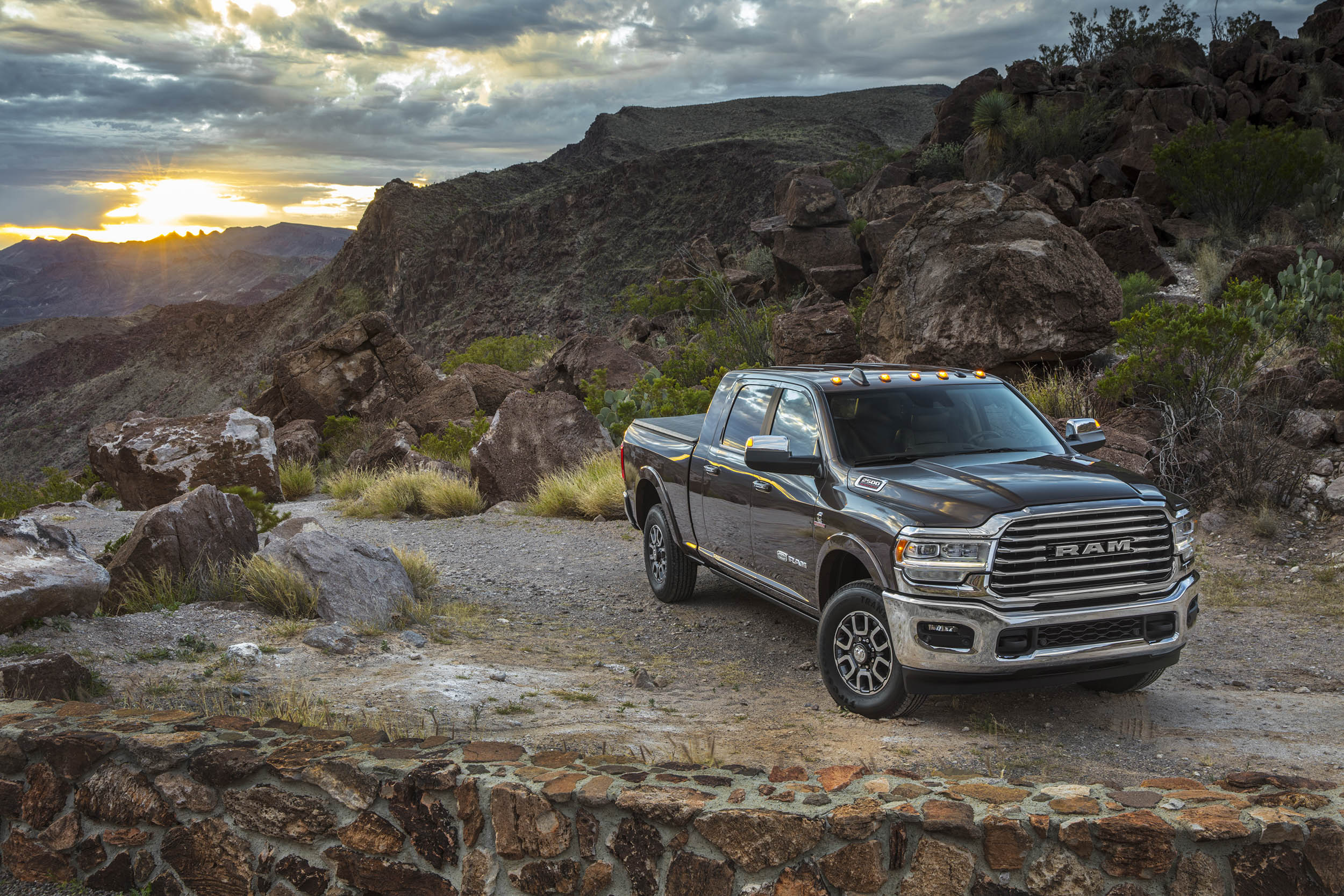 2019 RAM 2500 in the mountains