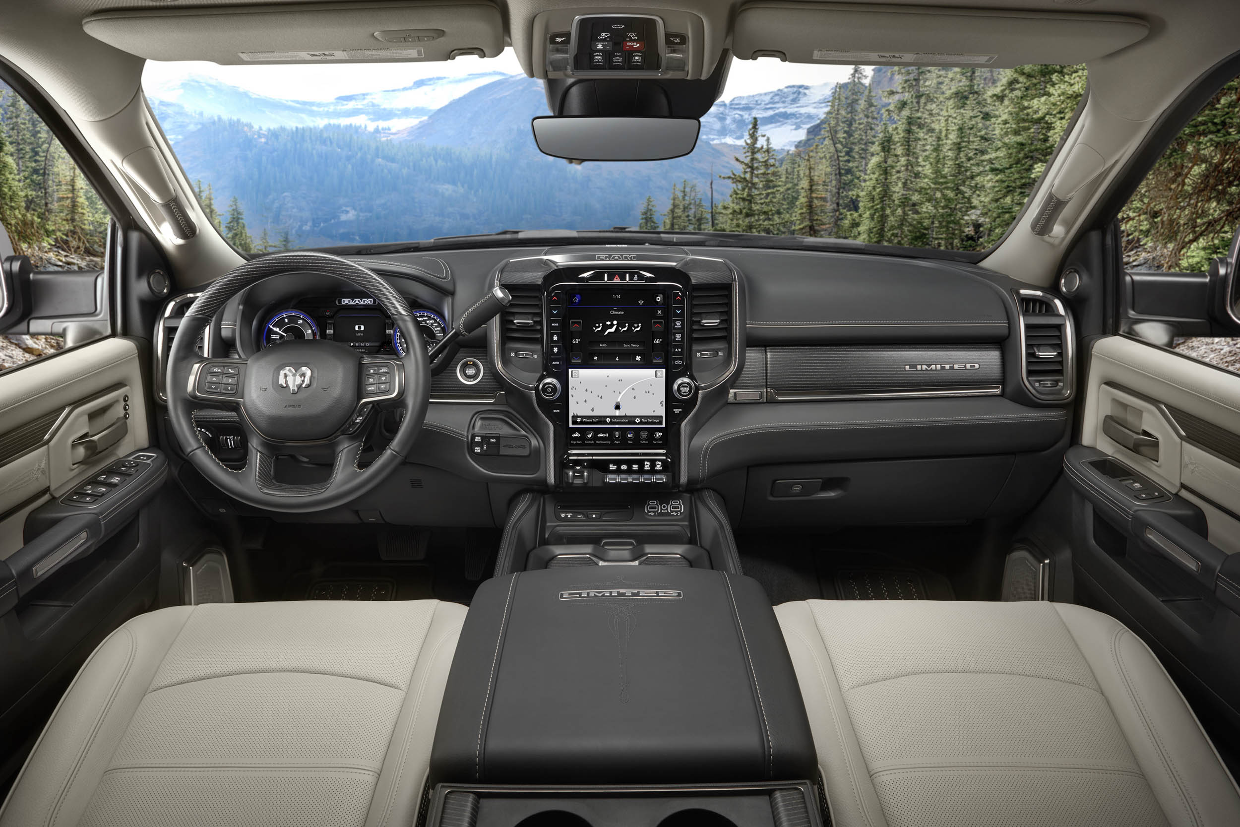 2019 RAM 2500 limited interior