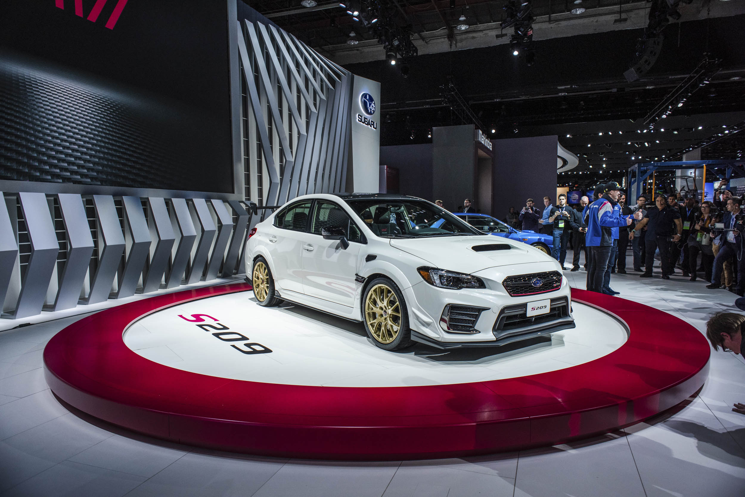 2020 Subaru WRX STI S209 on the show floor