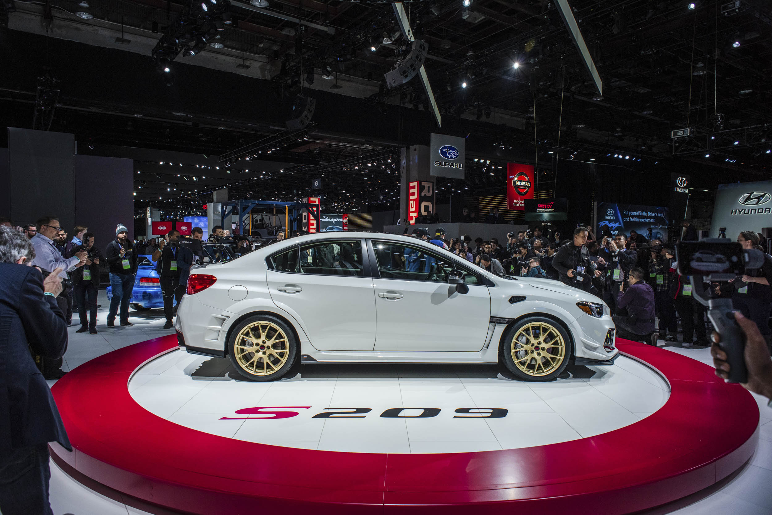 2020 Subaru WRX STI S209 profile side profile at the NAIAS
