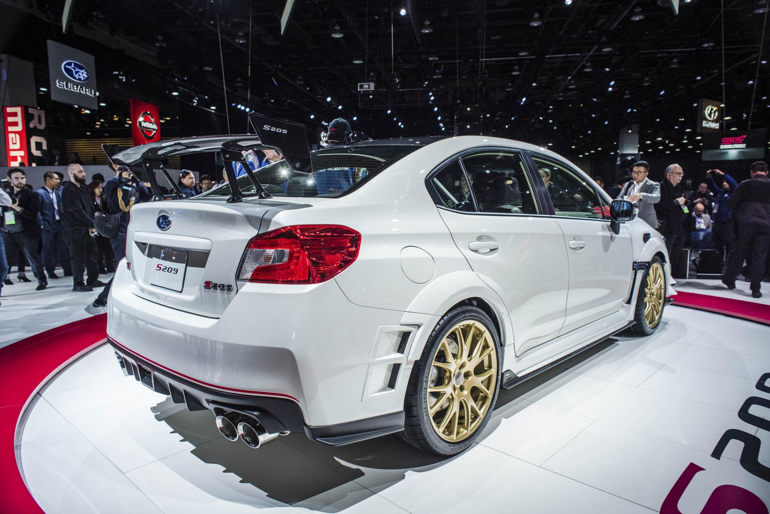 2020 Subaru WRX STI S209 rear 3/4