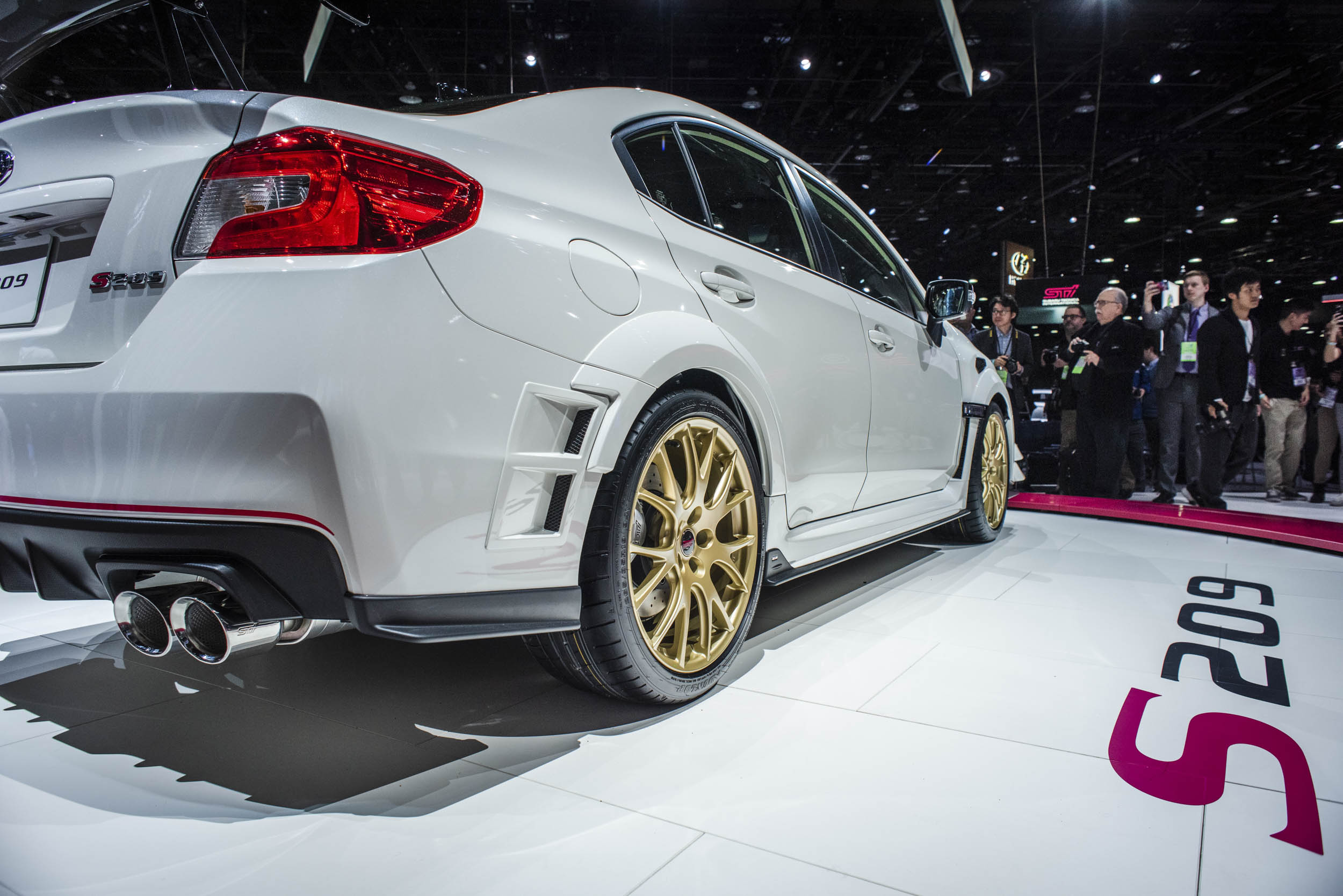 2020 Subaru WRX STI S209 low rear 3/4