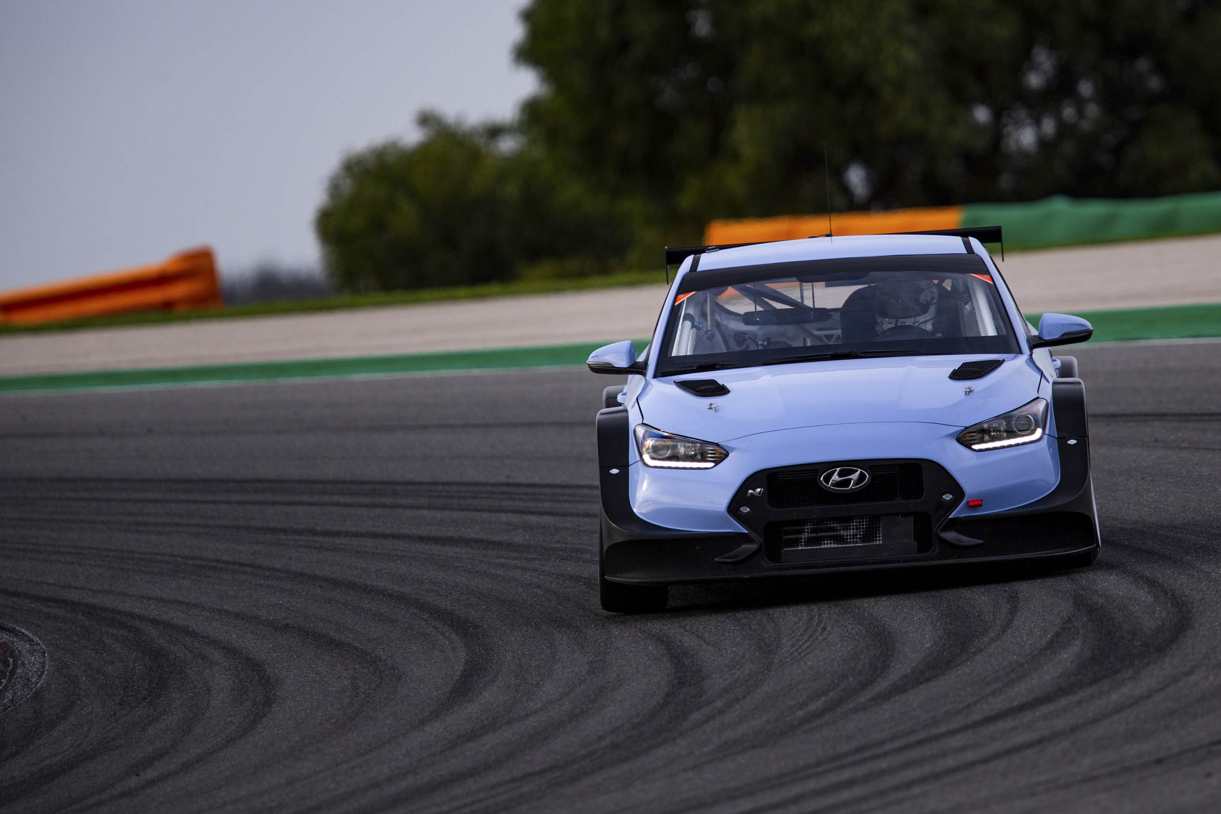 Hyundai Veloster N TCR on the track
