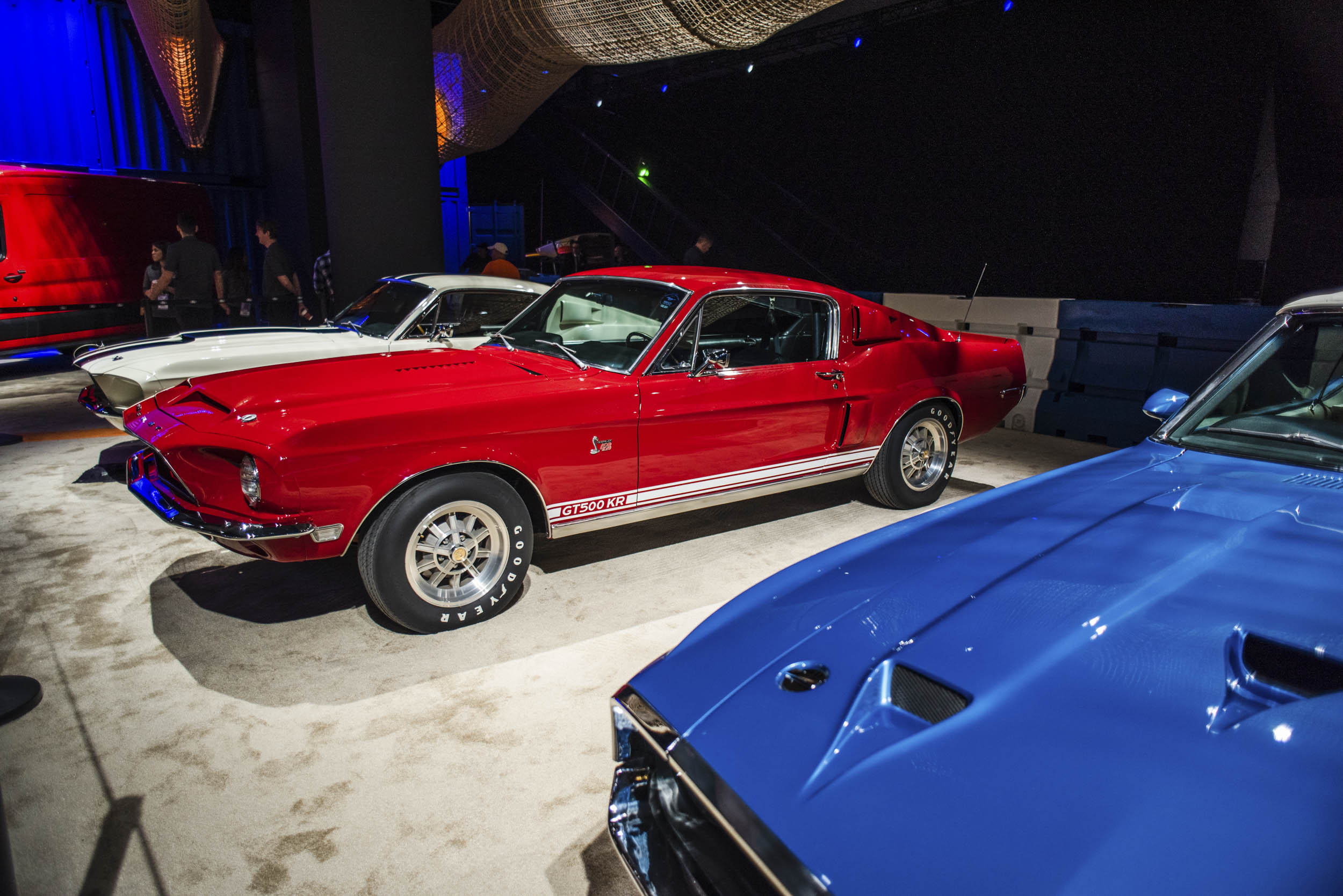 Vintage Shelby GT500s at Ford's NAIAS booth