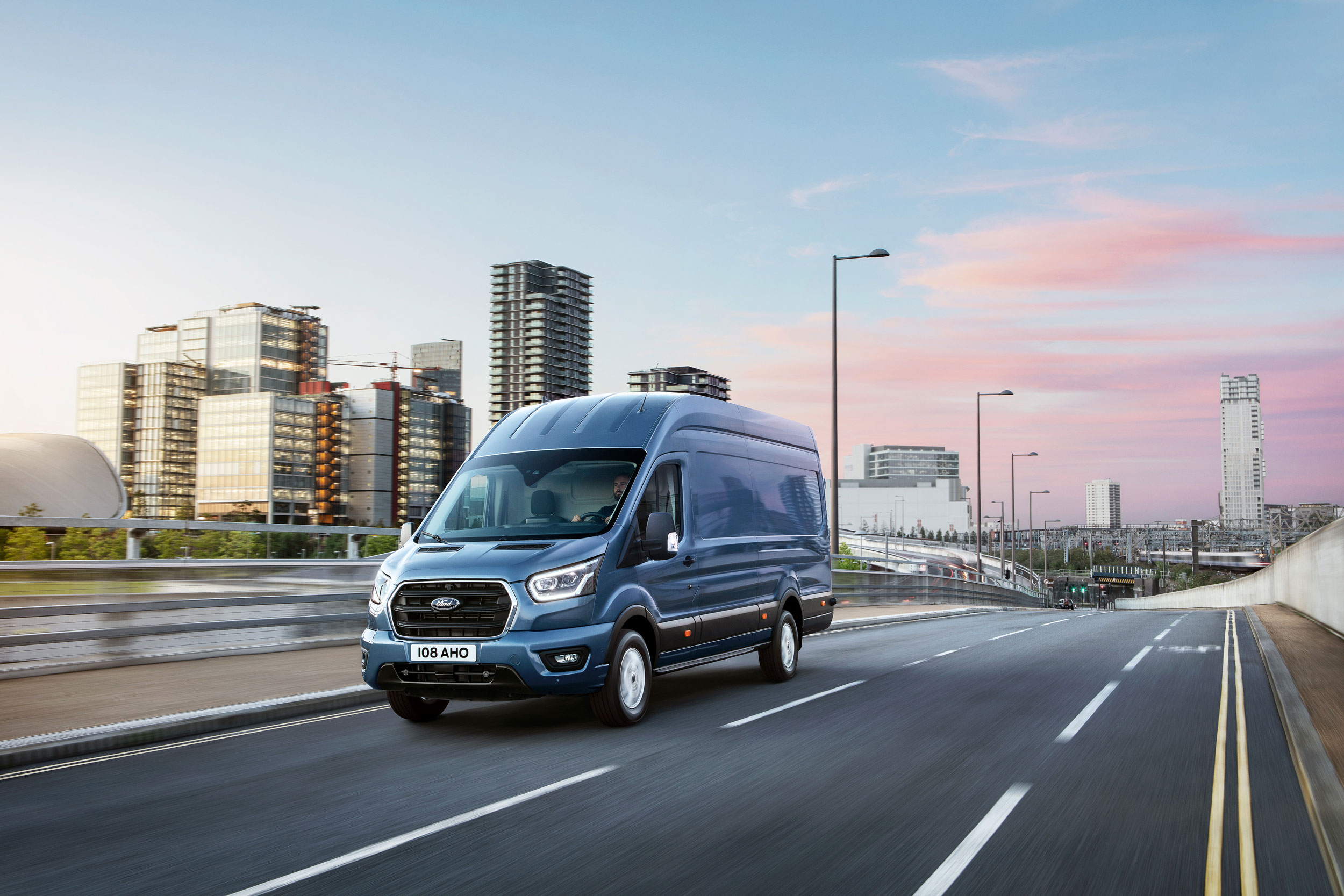 2018 Ford Transit driving