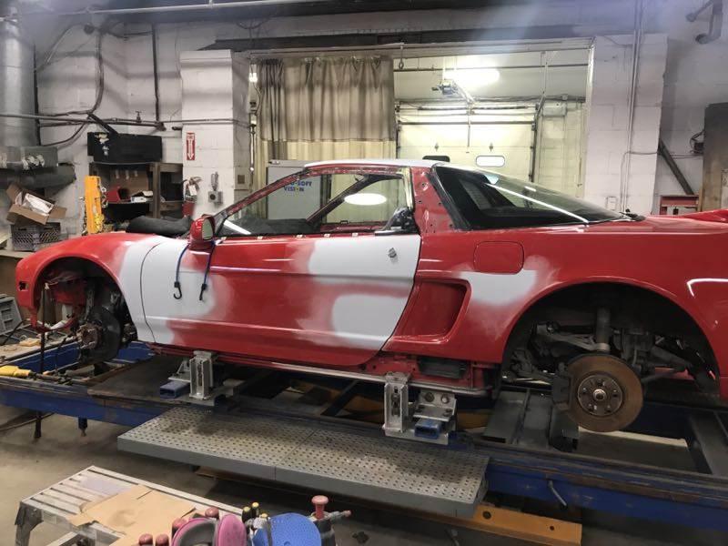 Zanardi Edition Acura NSX body work