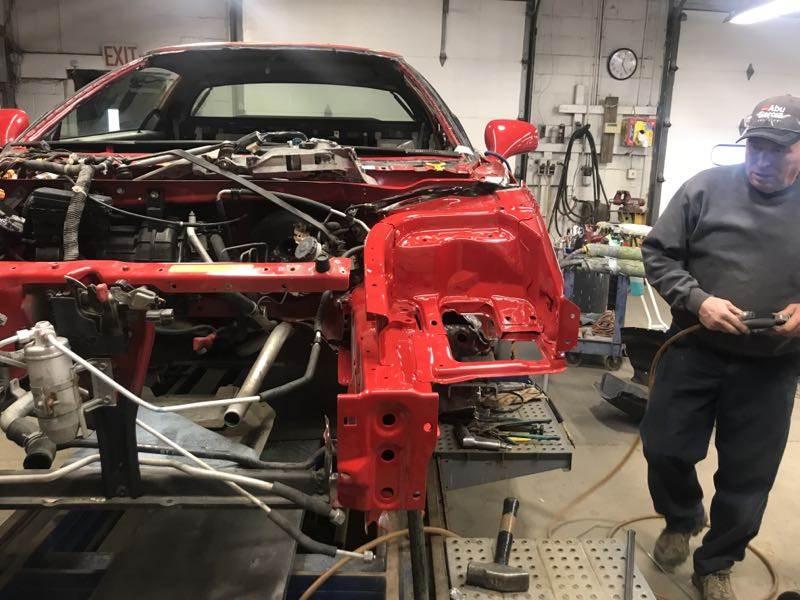 Zanardi Edition Acura NSX in the shop