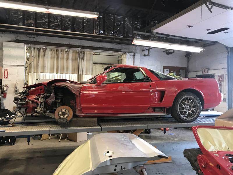 Zanardi Edition Acura NSX after a crash