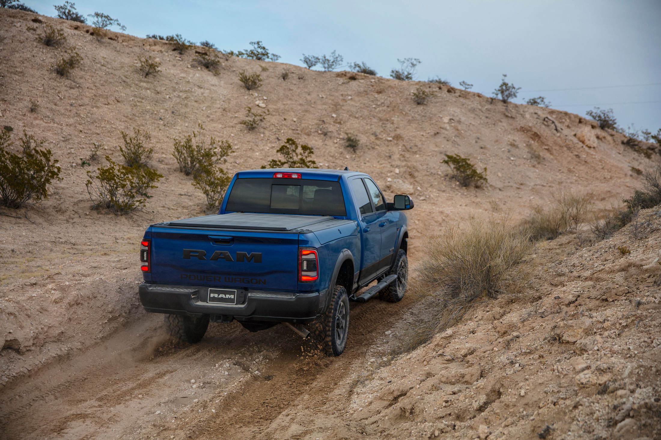 2019 RAM Power Wagon rear 3/4 driving