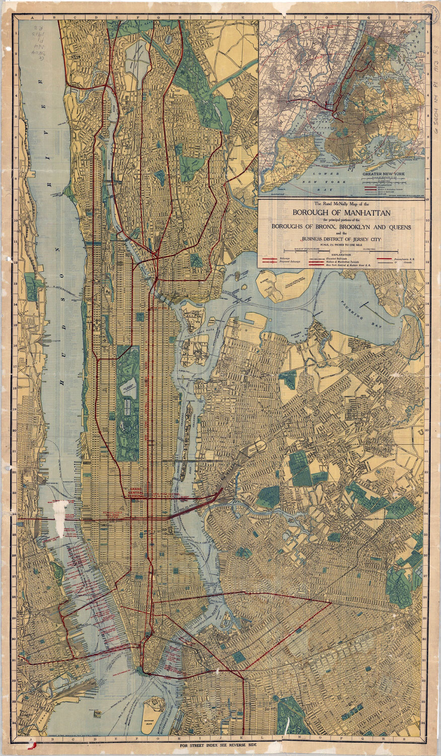 Borough of Manhattan road map