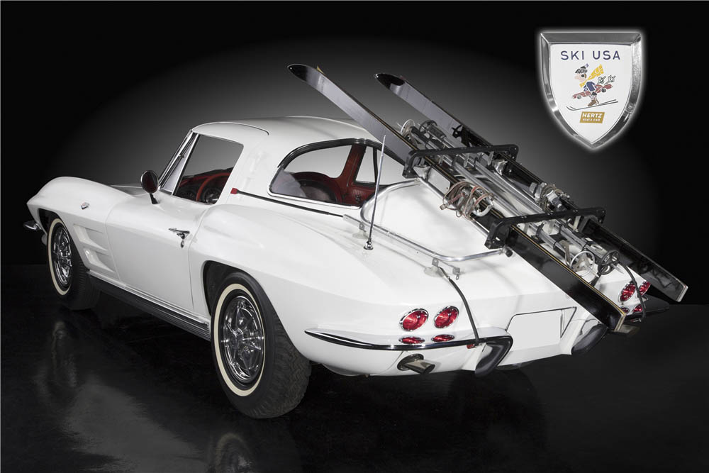 Snow joke: This rare Hertz '63 Corvette ski car is a rental mogul