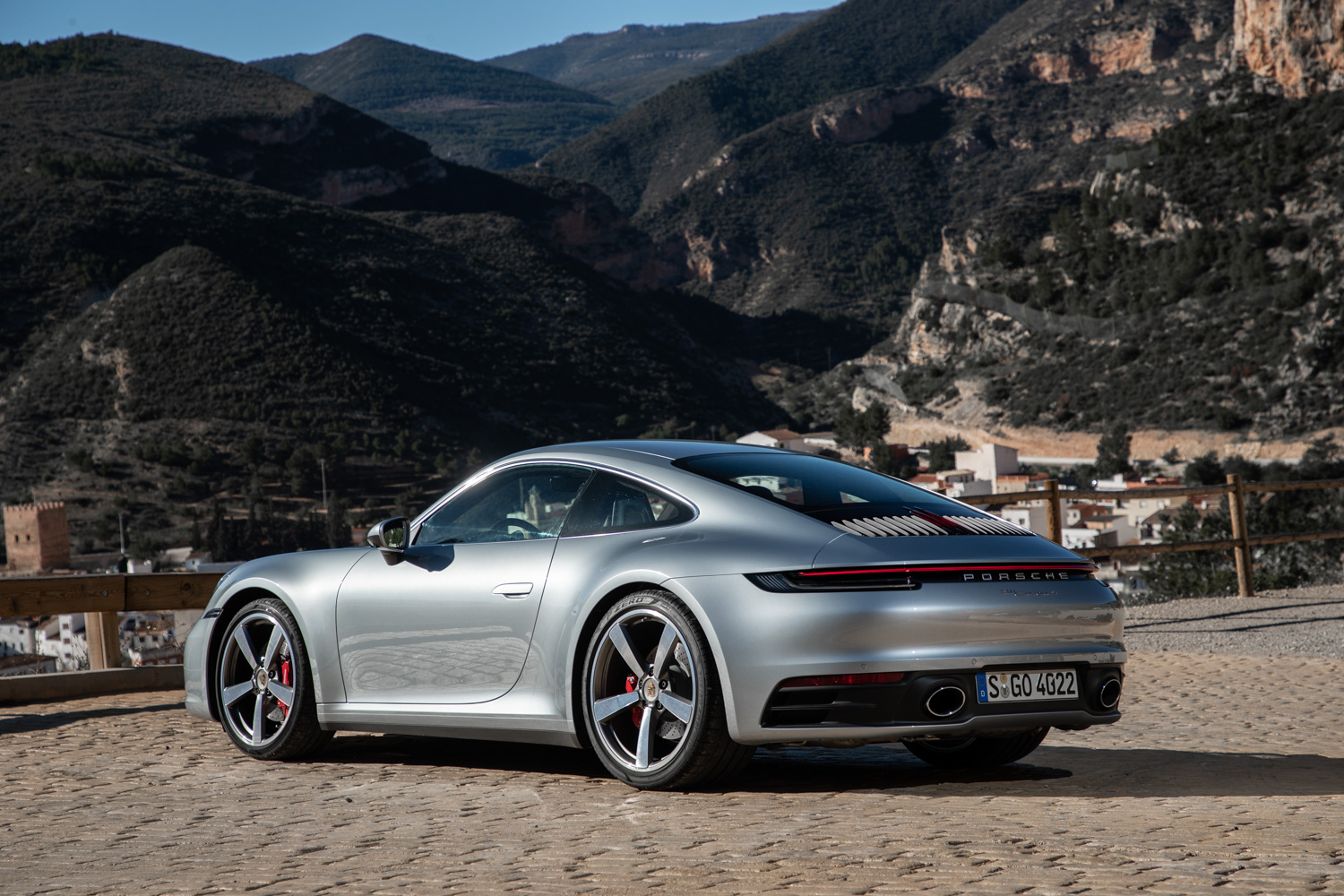 2020 Porsche 911 Carrera S 3/4 rear mountain towns