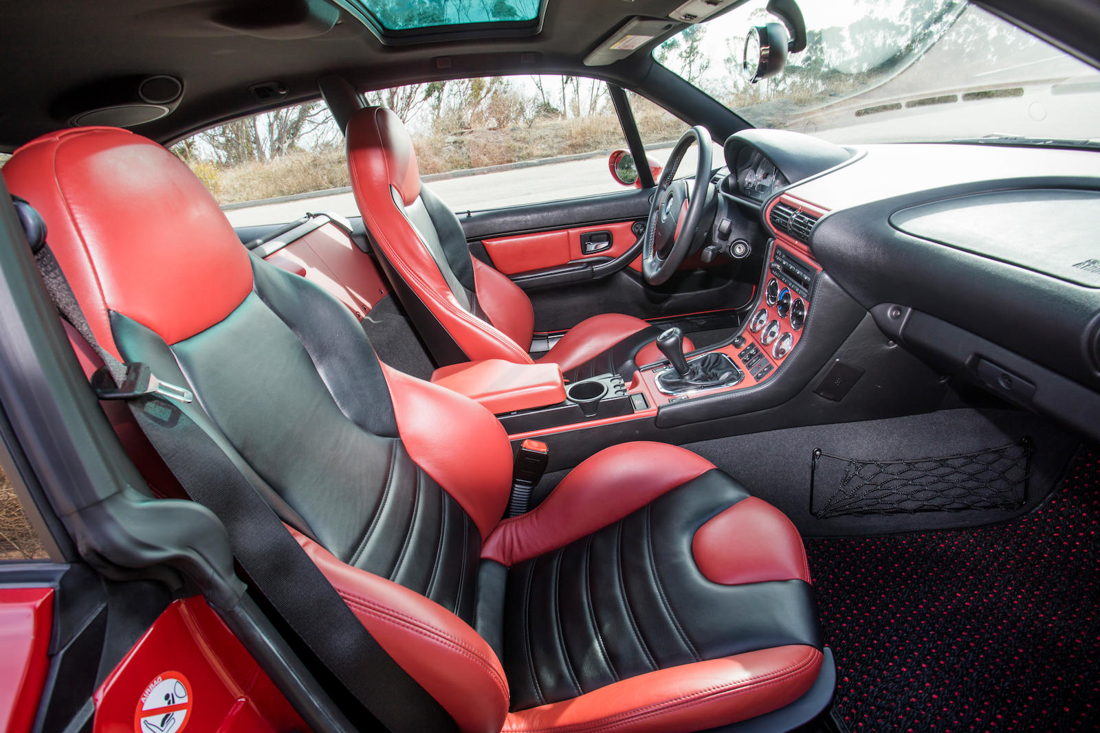 2002 BMW Z3 M Coupe interior passenger seats