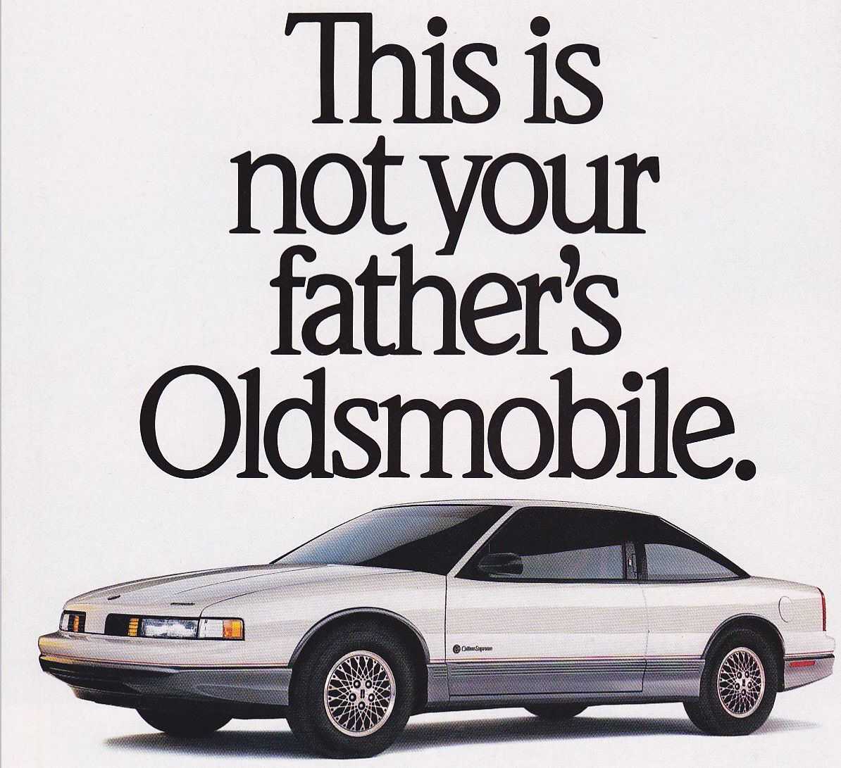 1989 Oldsmobile Cutlass Supreme advert