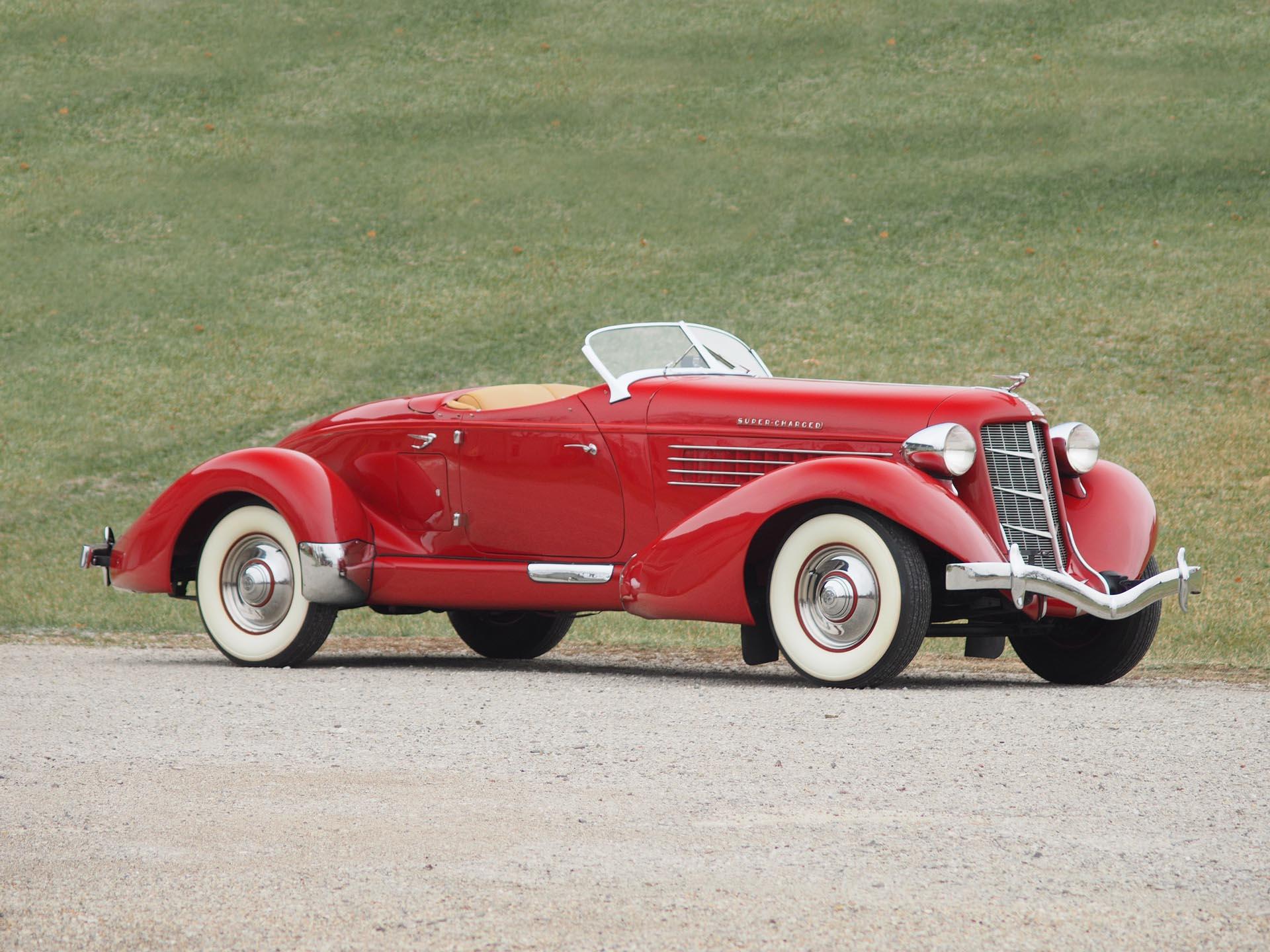 1935 Auburn 851 Supercharged Speedster red 3/4