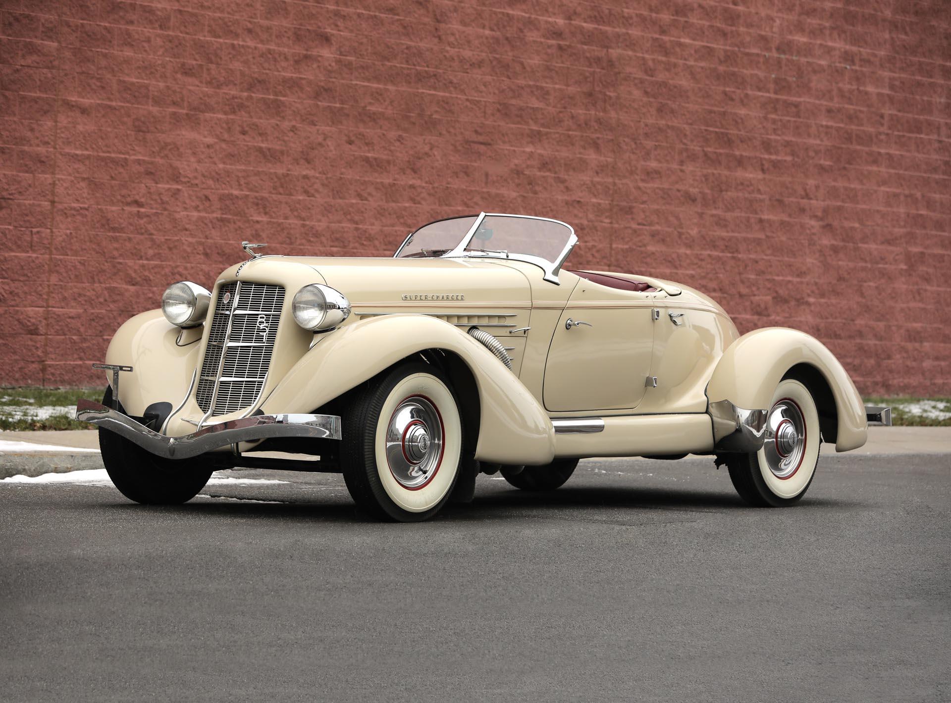 1935 Auburn 851 Supercharged Speedster tan 3/4