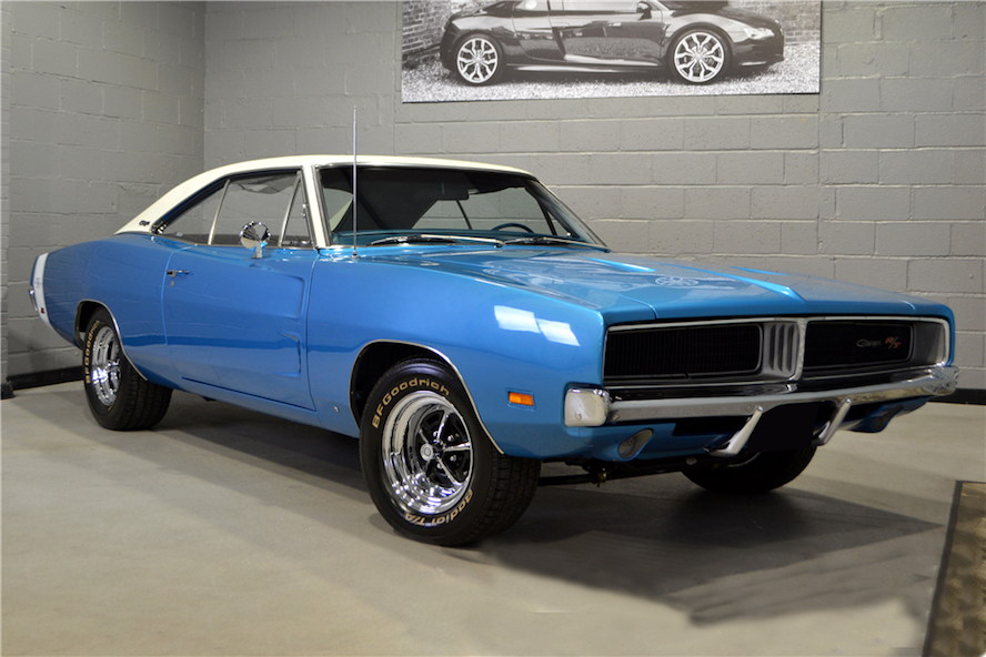 1969 Dodge Charger R/T blue 3/4