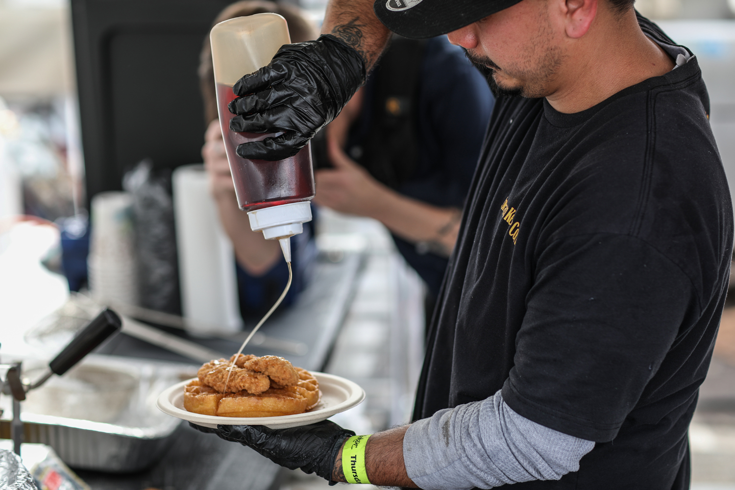 Chicken and Waffles at Barrett-Jackson auction
