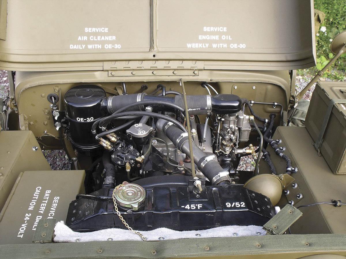 1952 Willys M38 Korean War Jeep engine