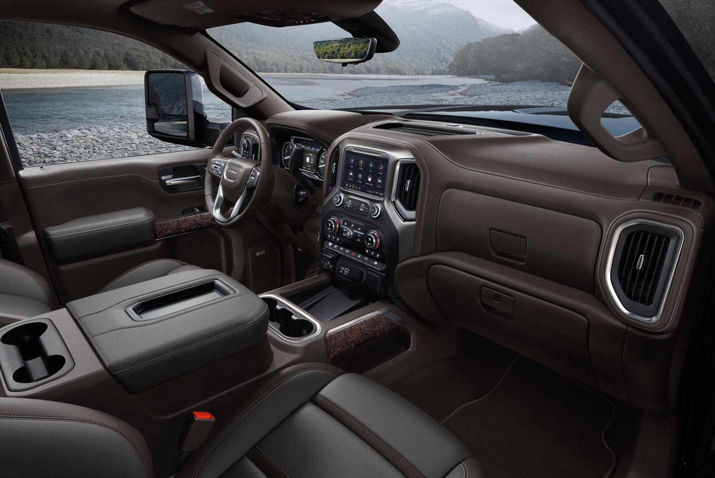 2020 GMC Sierra 2500HD interior passenger brown