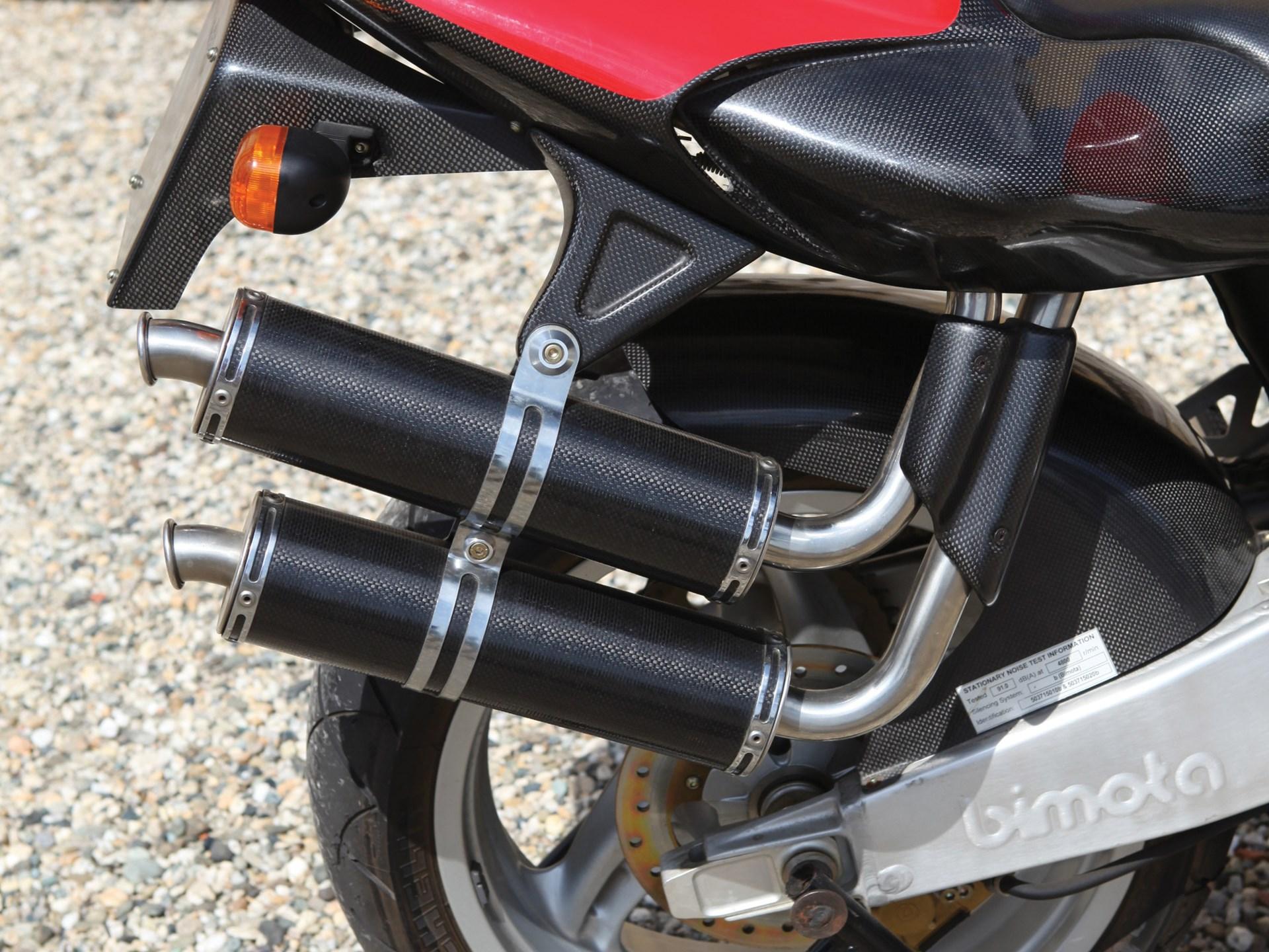 1998 Bimota V-Due 500 carbon exhaust