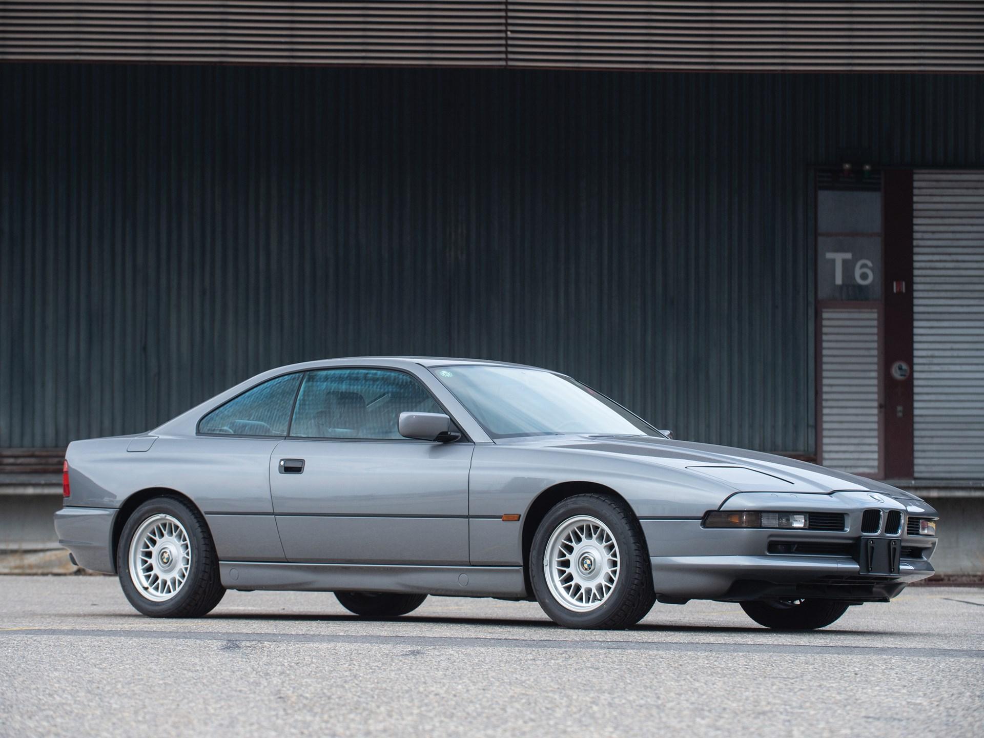 1991 BMW 850i 3/4 low silver