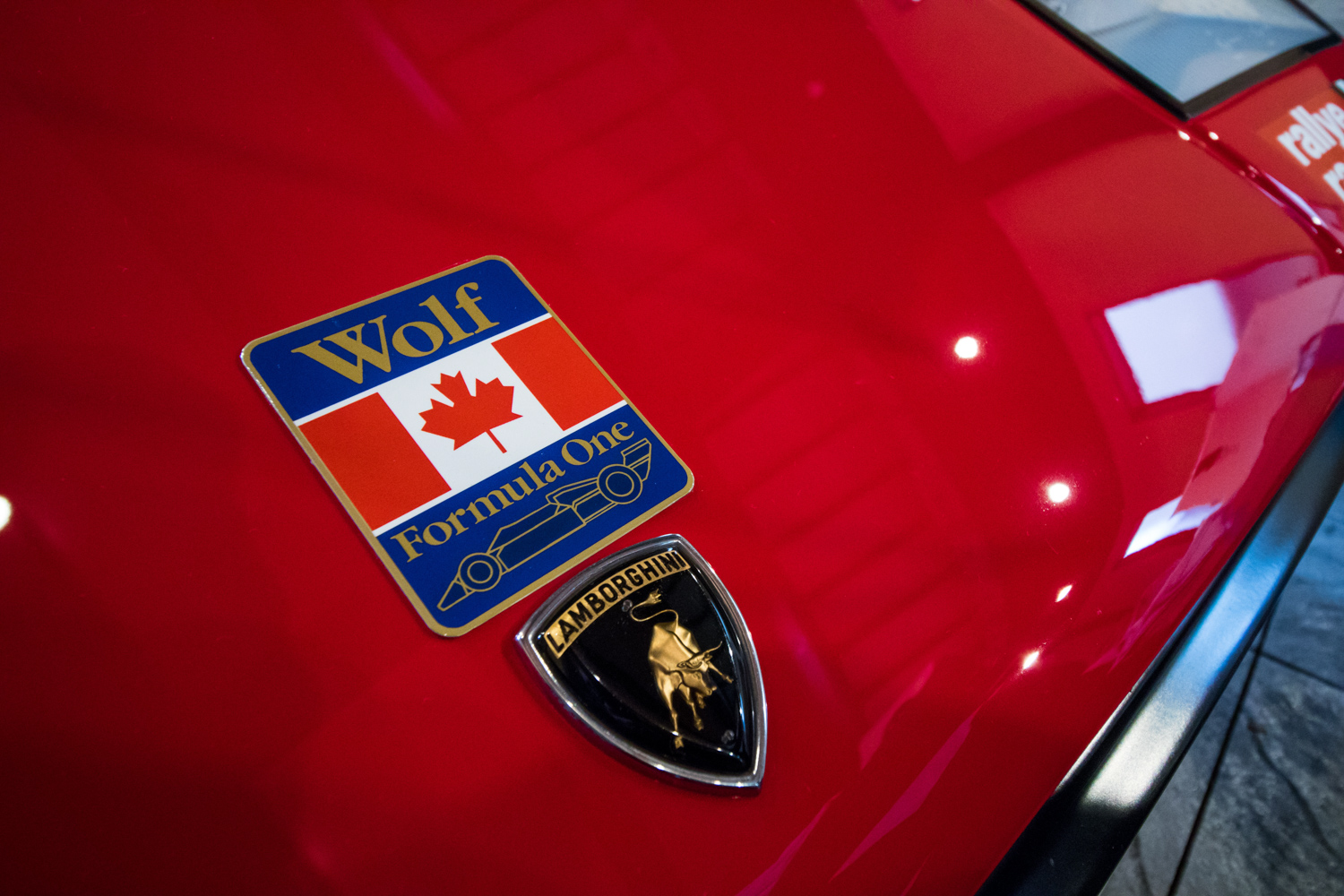 mike wolf lambo badge detail