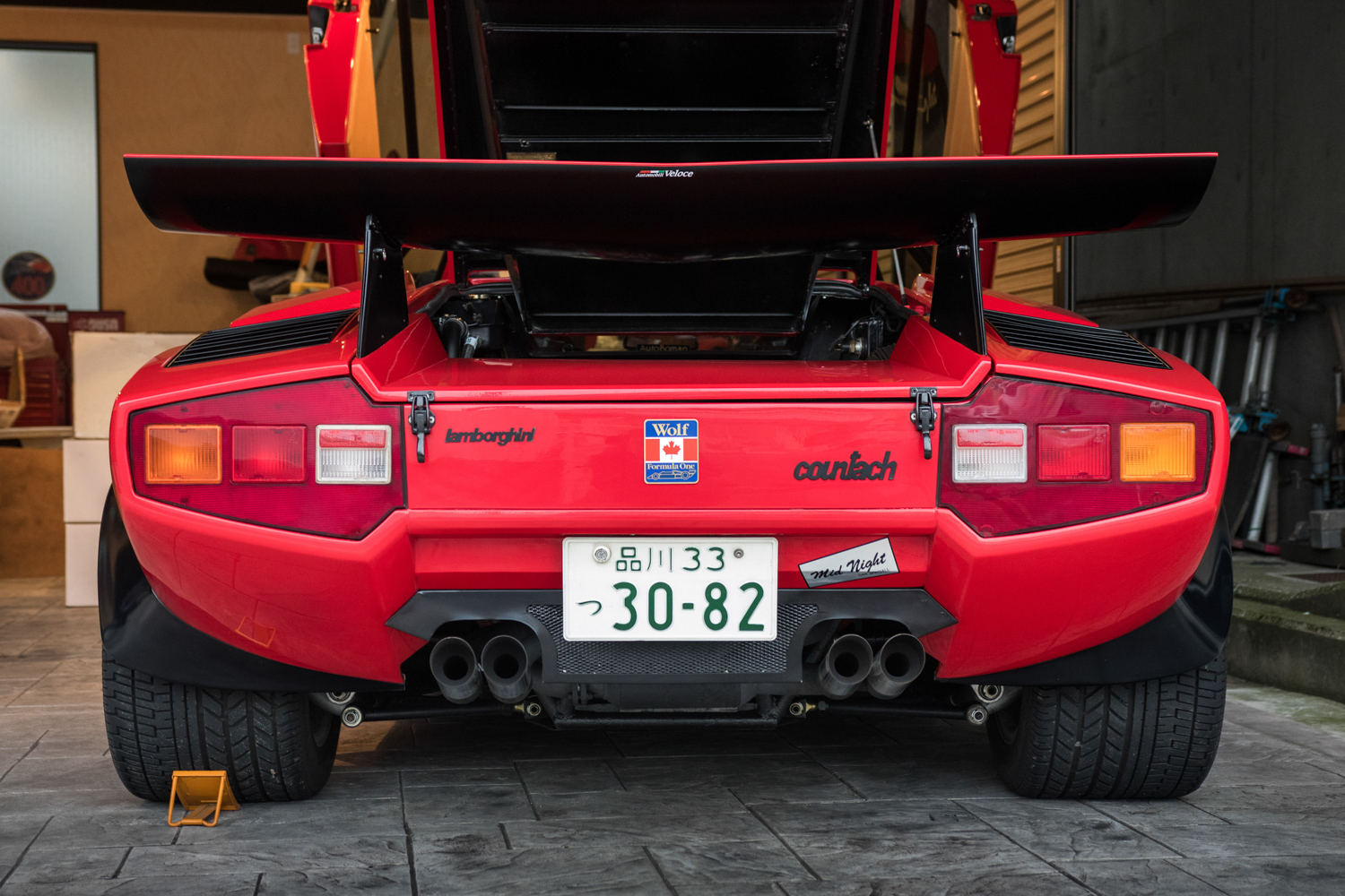 mike wolf lamborghini countach rear