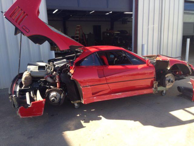 Gas Monkey Garage wrecked Ferrari F40