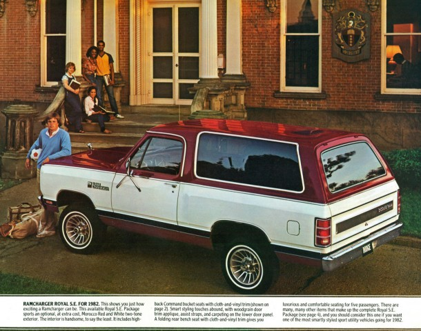 1982 Dodge Ramcharger rear 3/4 ad