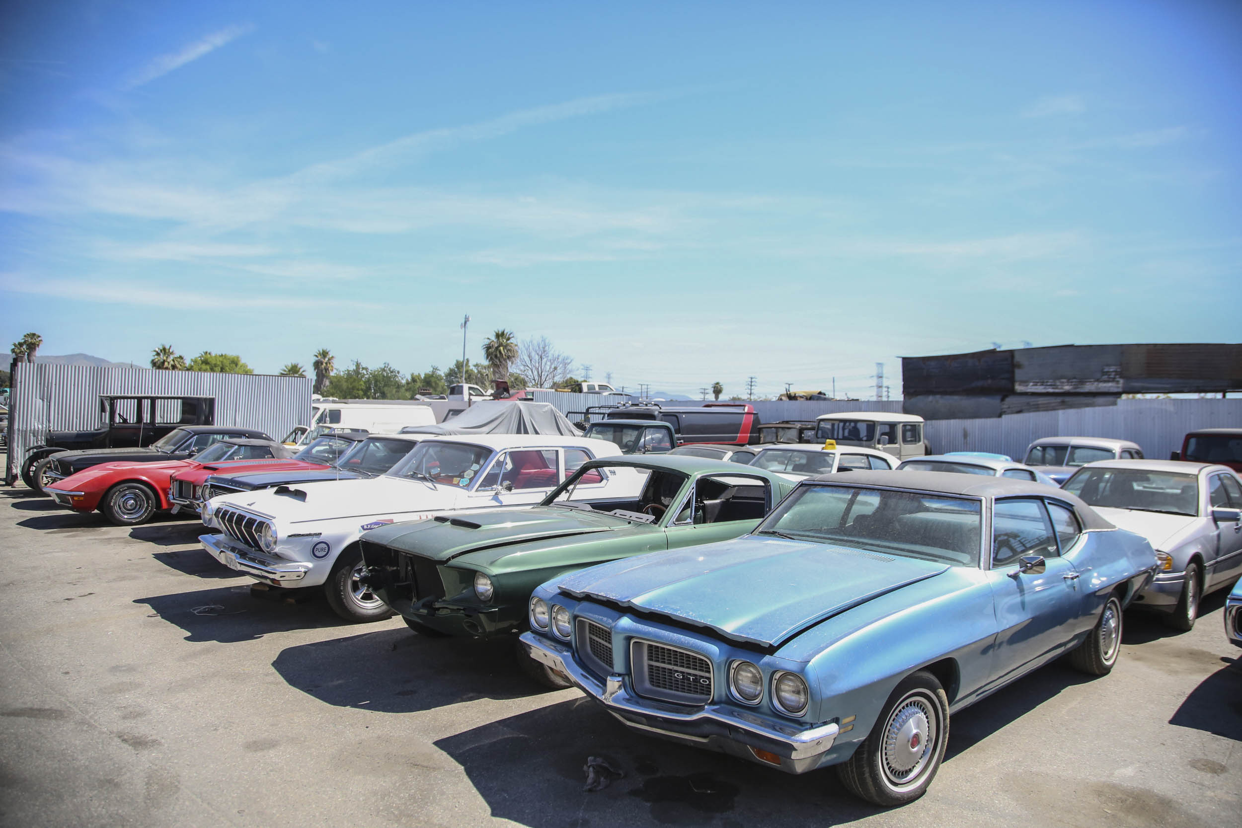 Picture Car Warehouse line up of cars