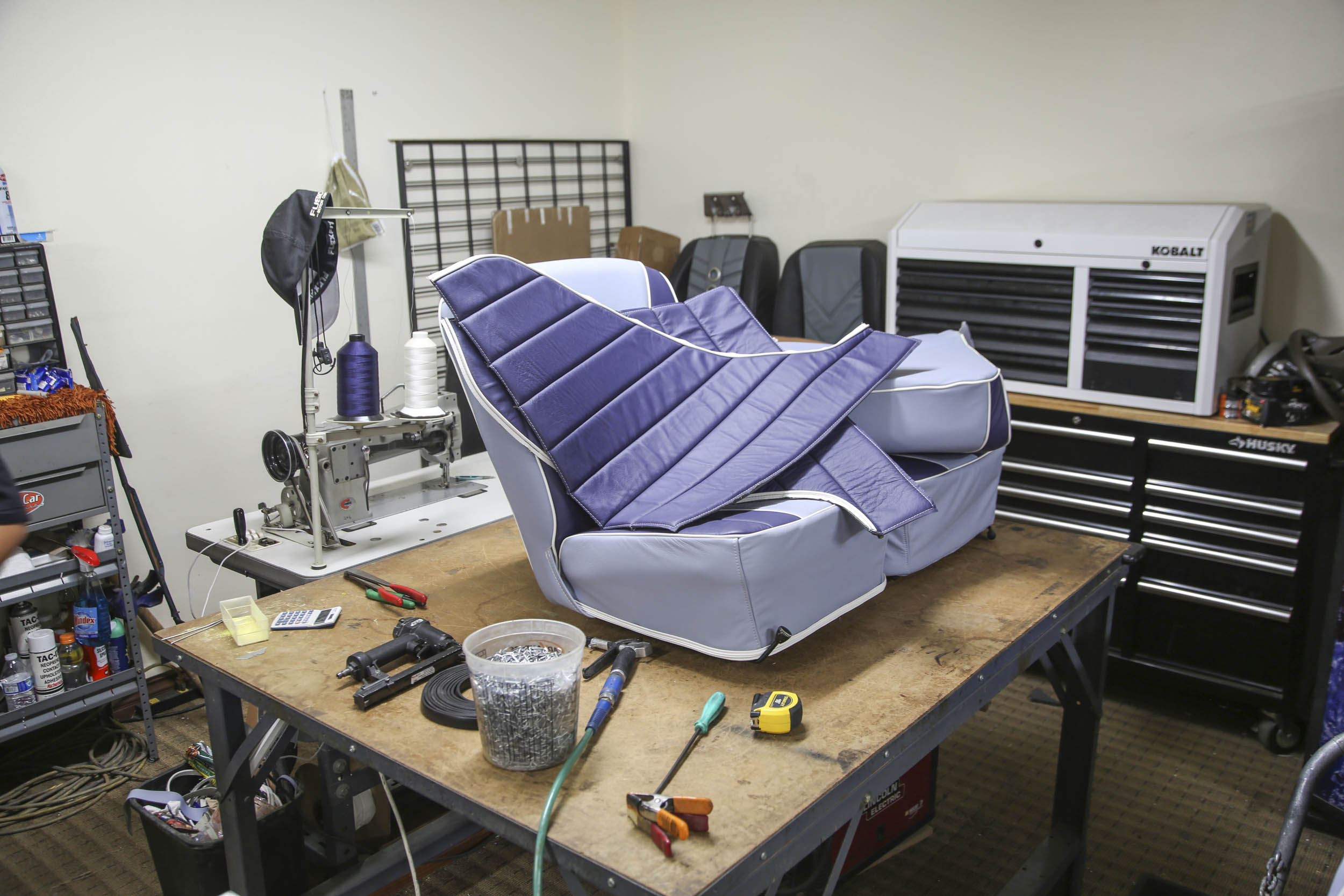 Picture Car Warehouse seat work