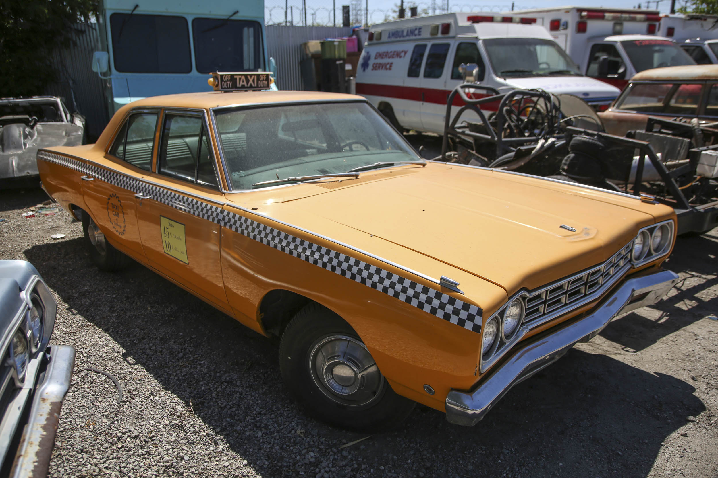 Picture Car Warehouse classic NY taxi