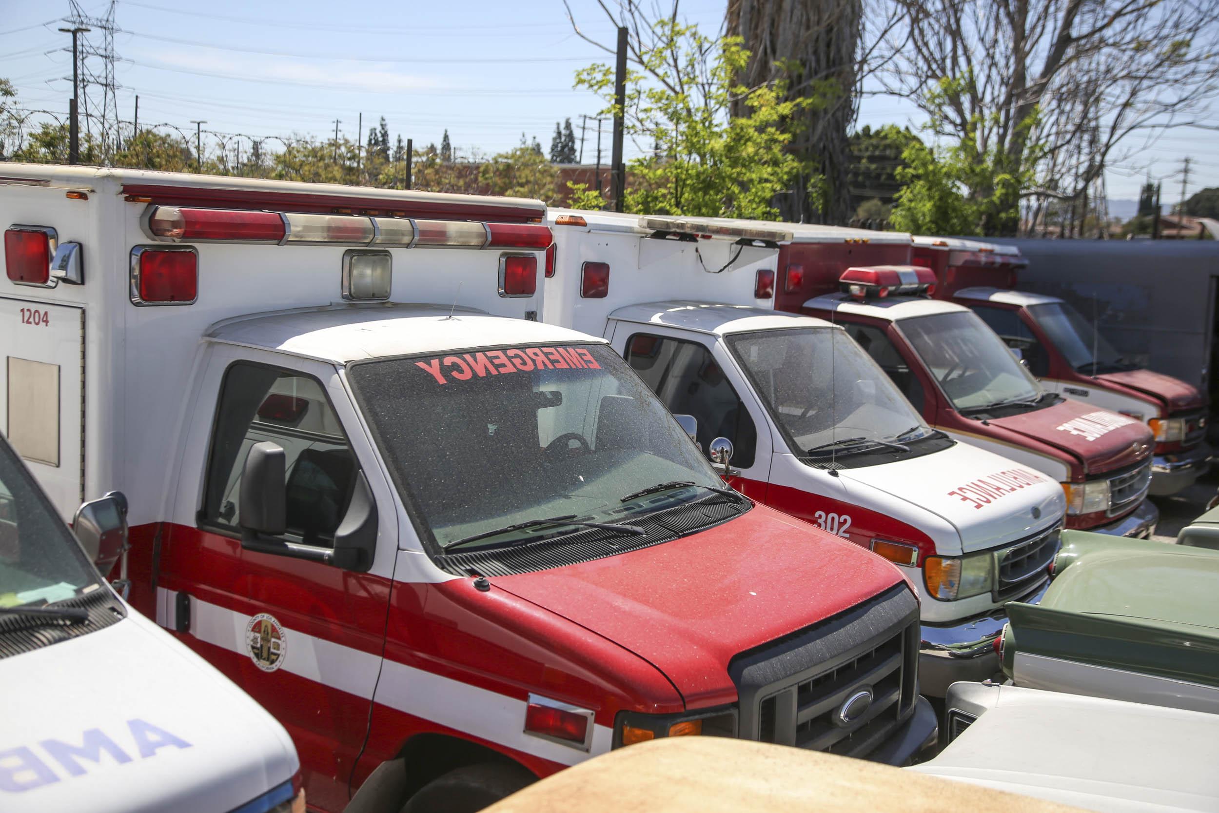 Picture Car Warehouse Emergency Ambulance