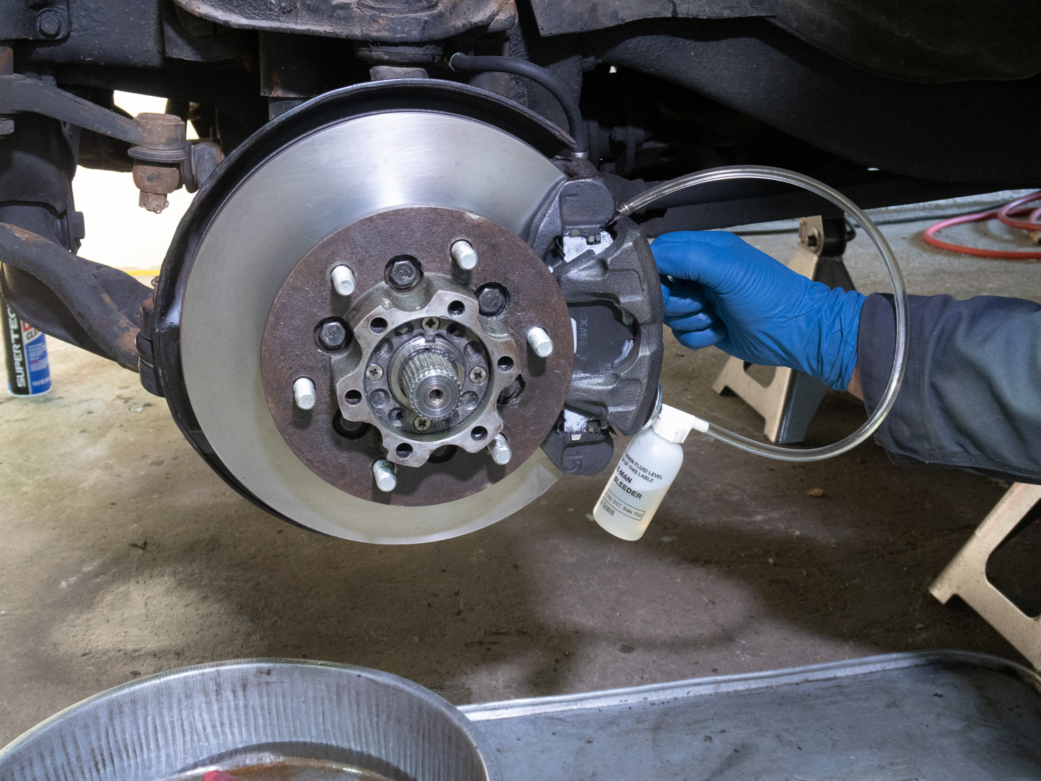 Winter projects brakes bled