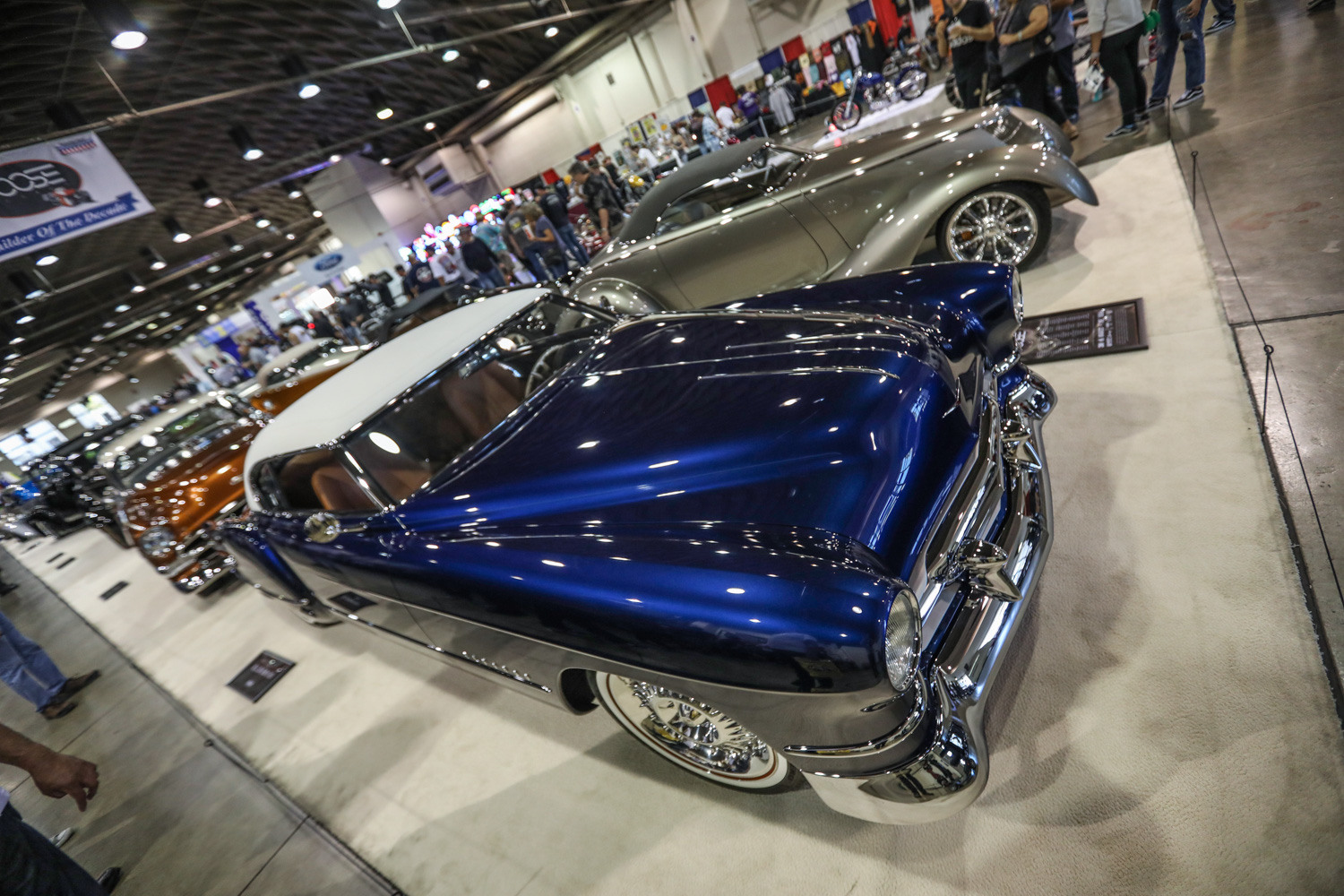 chip foose blue hot rod angle shot